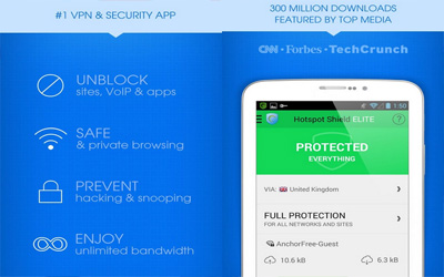 Hotspot Shield VPN Screenshot 1