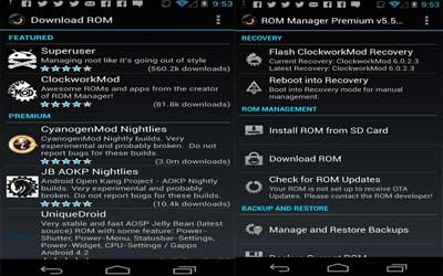 ROM Manager Screenshot 1