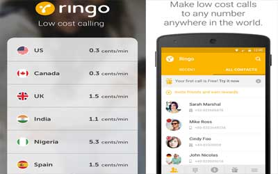 Ringo: Low cost calling Screenshot 1