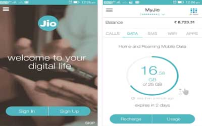 MyJio Screenshot 1